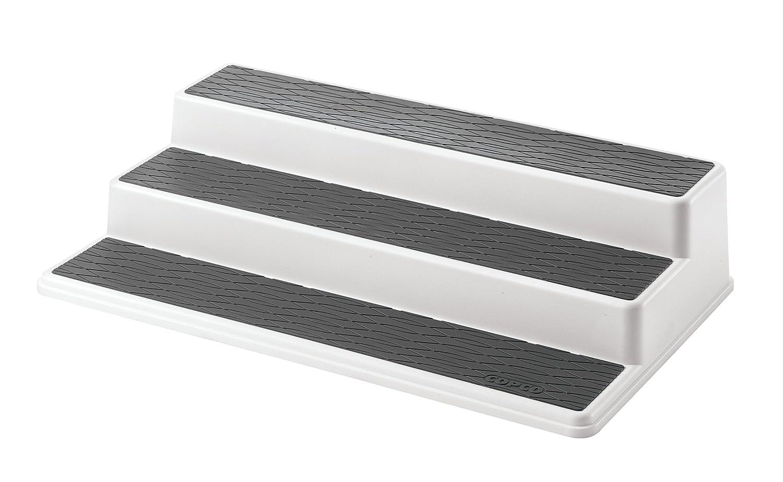 copco non skid slip 3 tier kitchen shelf cabinet storage