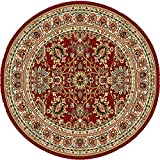 Home Dynamix 8079-200 Royalty Collection Round Area Rugs, 8-Feet, Red