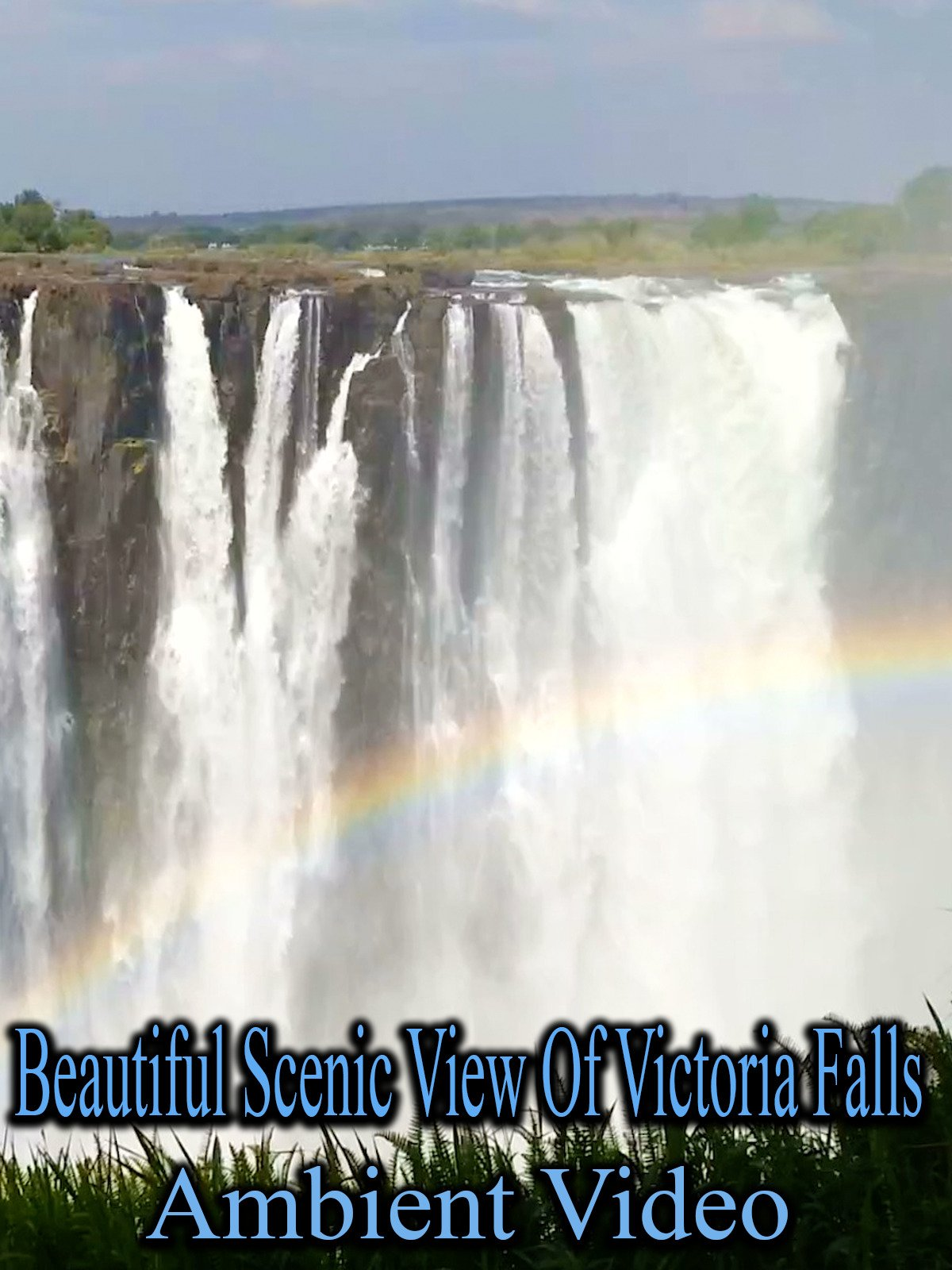 Beautiful Scenic View of Victoria Falls Ambient Video