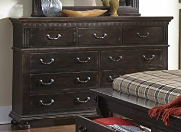 Traditional Dresser in Tobacco Finish