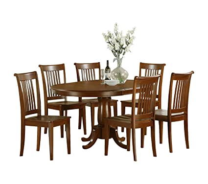 East West Furniture PORT5-SBR-W 5-Piece Dining Table Set