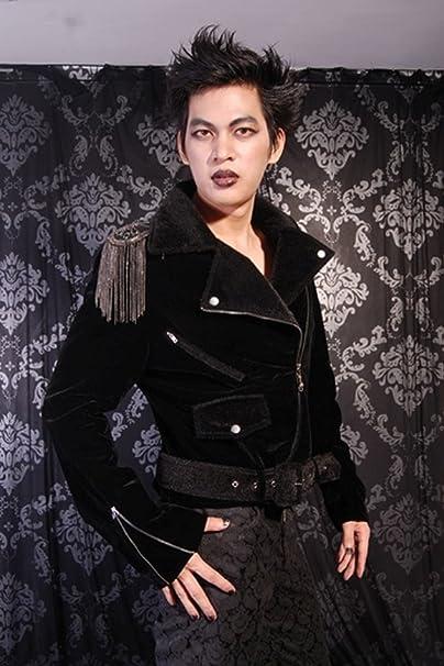 Veste Gothique Aristocrate Velour - Noir, S