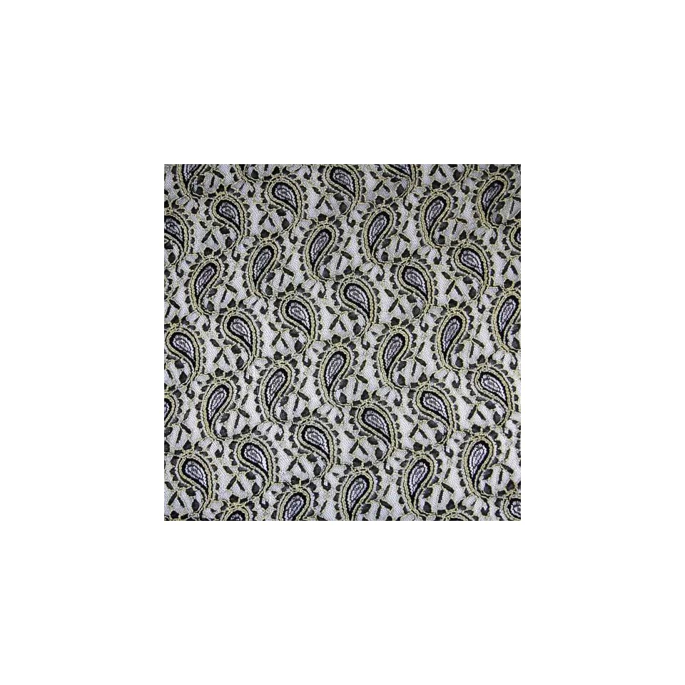 Wholeport Soft Black Stretch Lace Fabric 160m Wide By the Yard