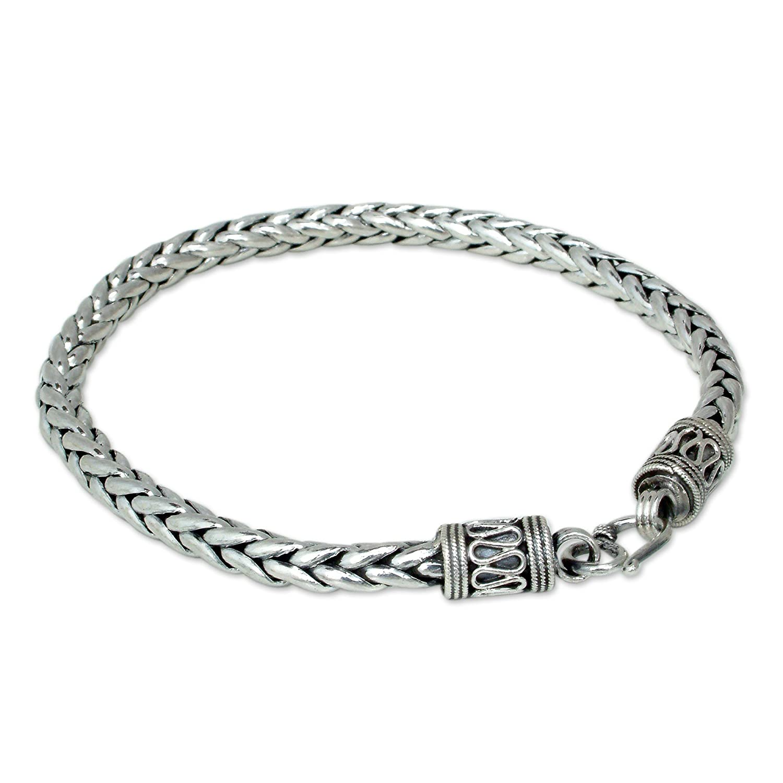 sterling silver bracelet men
