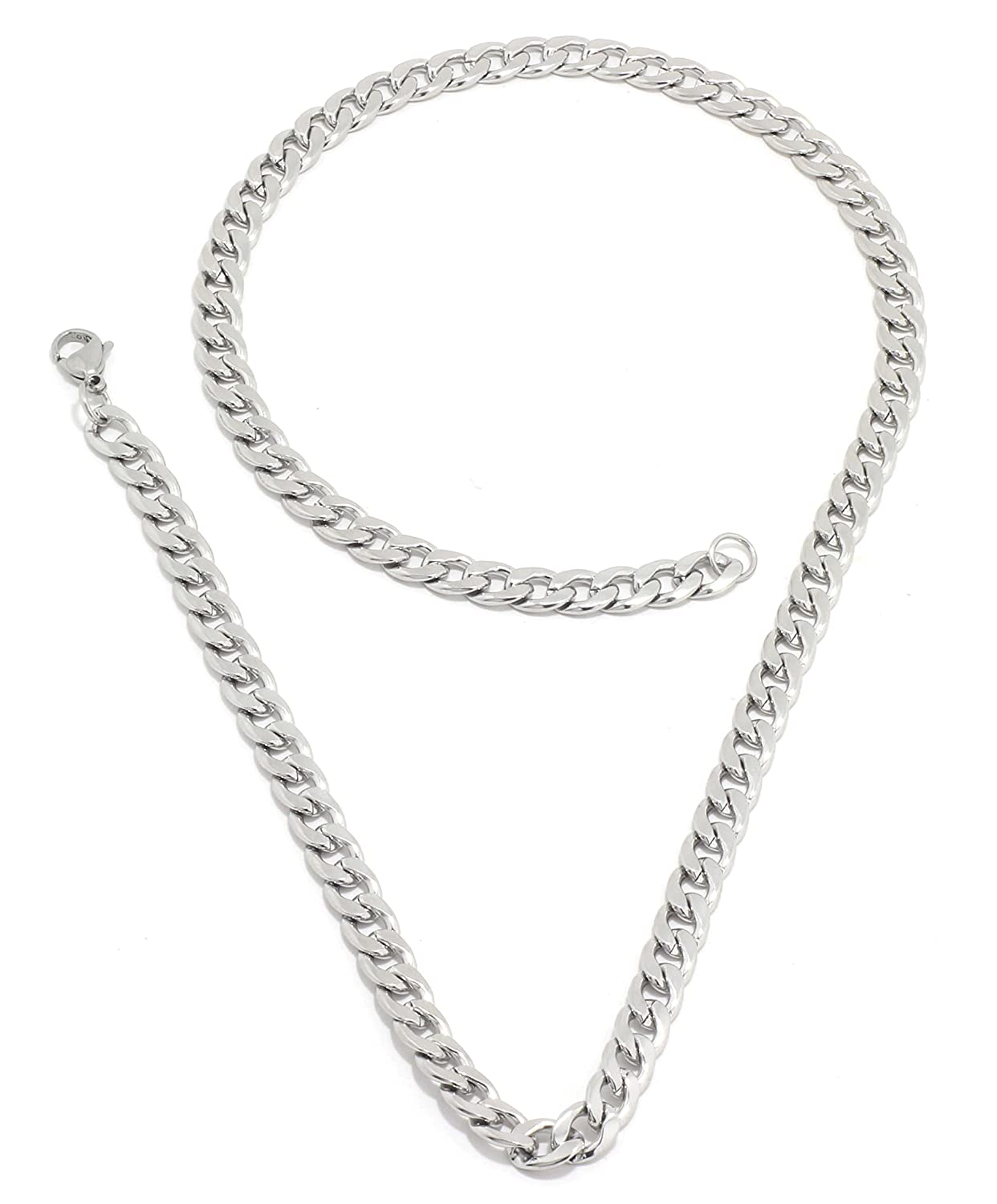 Saizen CH025 Stainless Steel Silver colour Chain for Men and Boys.