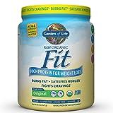 Garden of Life Organic Meal Replacement - Raw Organic Fit Powder, Original - High Protein for Weight Loss (28g) plus Fiber, Probiotics & Svetol, Organic & Non-GMO Vegan Nutritional Shake, 10 Servings (Tamaño: 10-Serving Canister)