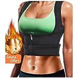 LODAY Women Neoprene Sauna Sweat Waist Trainer Vest with Zipper for Weight Loss Gym Workout Body Shaper Tank Top Shirt (Black(Girdles Shapewear), M: US 12) (Color: Black(girdles Shapewear), Tamaño: Medium (fits like US 12))