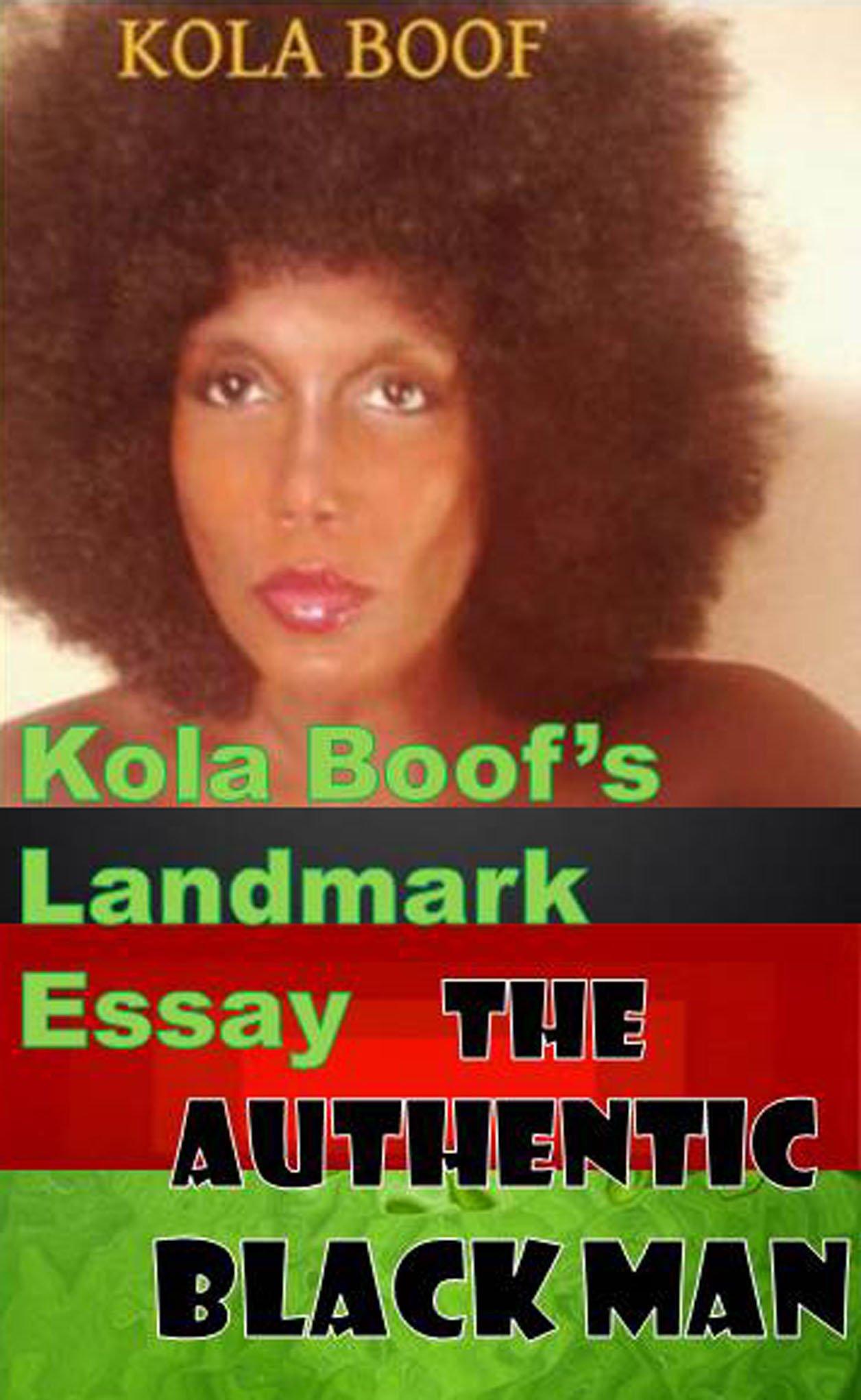 Kola Boof Lion Kola Boof's Landmark Essay
