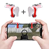 Qoosea Mobile Game Controller Triggers Gamepad L1 R1 Sensitive Shoot Aim Joysticks Physical Buttons for PUBG/Knives Out/Rules of Survival for 4.5