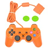 Wired Gaming Controller for Ps2 Double Shock-Orange