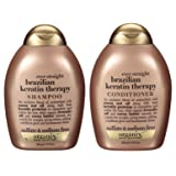 Organix Ever Straight Brazilian Keratin Therapy, DUO Set Shampoo + Conditioner, 13 Ounce, 1 Each