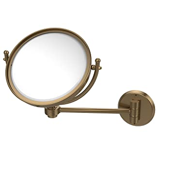 Allied Brass WM-5G/5X-BBR 8-Inch Wall Mounted Make-Up Mirror with 5x Magnification, Brushed Bronze