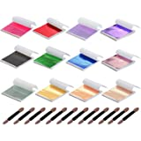 Y-Axis 12 Colors Gold Leaf Sheets Set 360 Sheets Imitation Hold Gold Leaf Leafing Sheets Foil Paper for Slime Nails Paintings Statues Face Wall Furniture Decorations (Color: 12 Colors-360 Sheets)