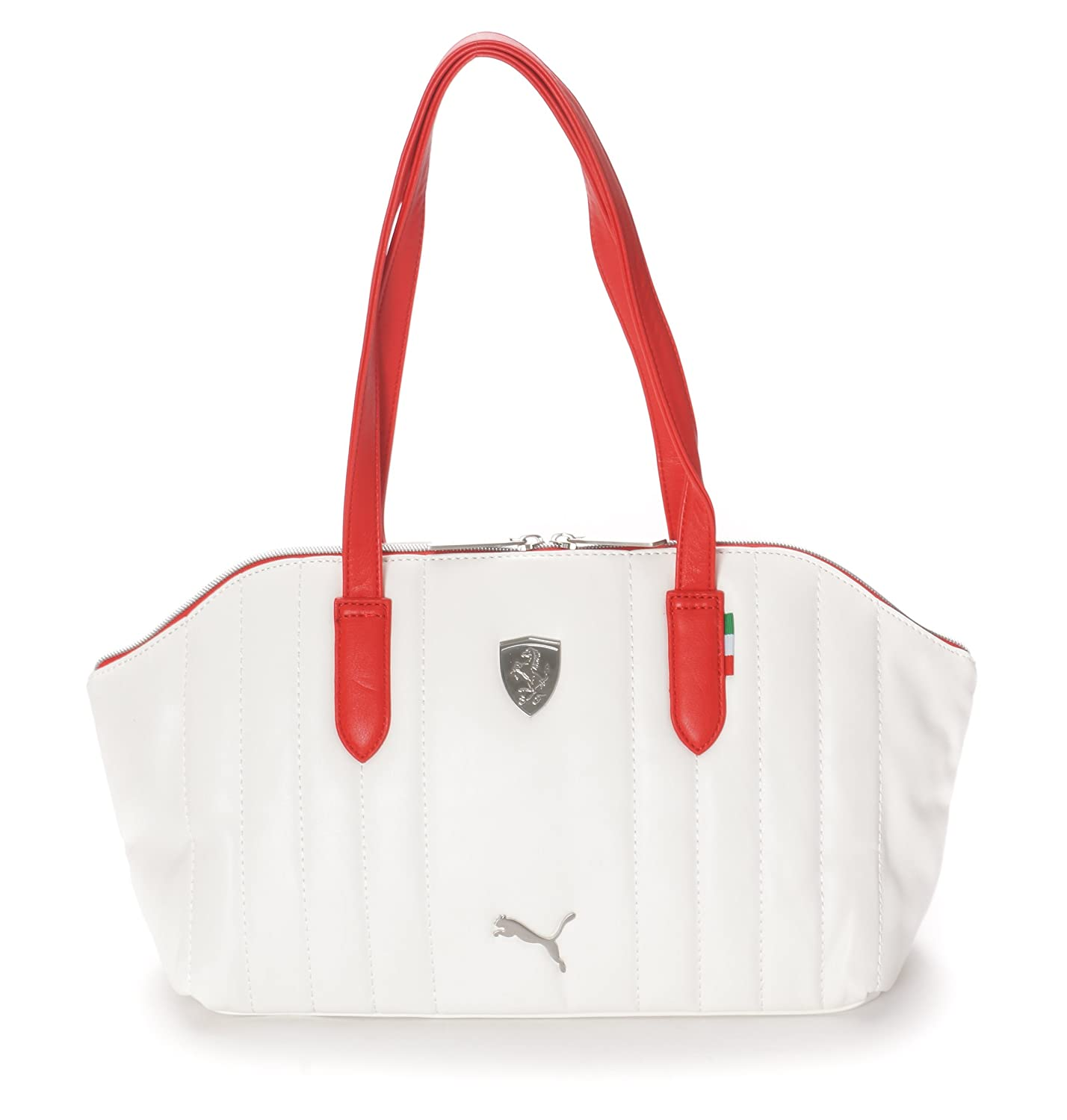 Puma Ferrari Ls Shoulder Hand Bag Boston Bag In White 45