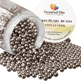 PandaHall Elite 4mm About 1000Pcs Tiny Satin Luster Glass Pearl Round Beads Assortment Lot for Jewelry Making Round Box Kit Dark Brown (Color: Dark Brown-1000 Pcs, Tamaño: 4~4.5mm)