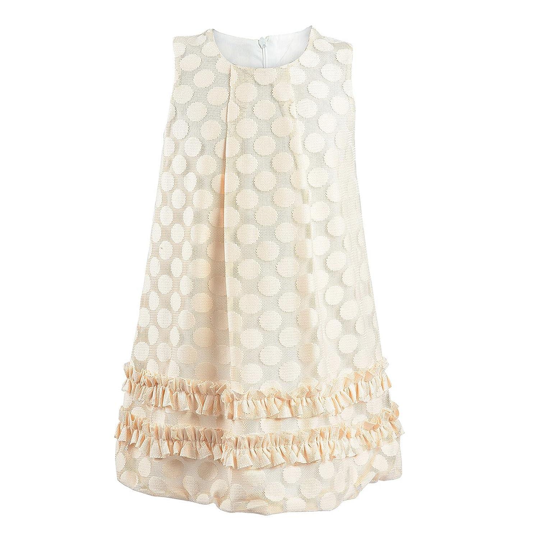 Lilax Little Girls' Polka Dot Tulle Dress