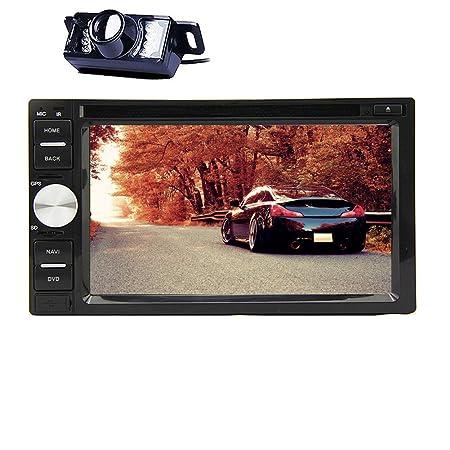 Cš¢mara Reproductor trasero Incluye doble Vehšªculo 2 Din voiture Bluetooth Bluetooth DVD VidšŠo CD Android Jugador 4,2 UI GPS Radio Auto Universal 6.2 pulgadas d'šŠcran tš¢ctil en el tablero