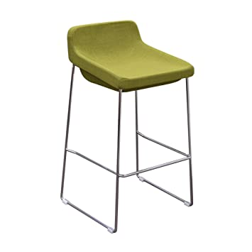 Diamond Sofa A98STOL Contemporary Bar Stools With Chrome Base - Olive, 2 Pack