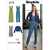 Simplicity 8178 Women's Jumpsuit, Dress, and Jacket Sewing Patterns for Women by In K, Sizes R5 (14-22). (Tamaño: R5 (14-16-18-20-22))