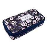 Twinkle Club Big Capacity Pencil Case Students Stationery, Cyan (Color: Cyan)