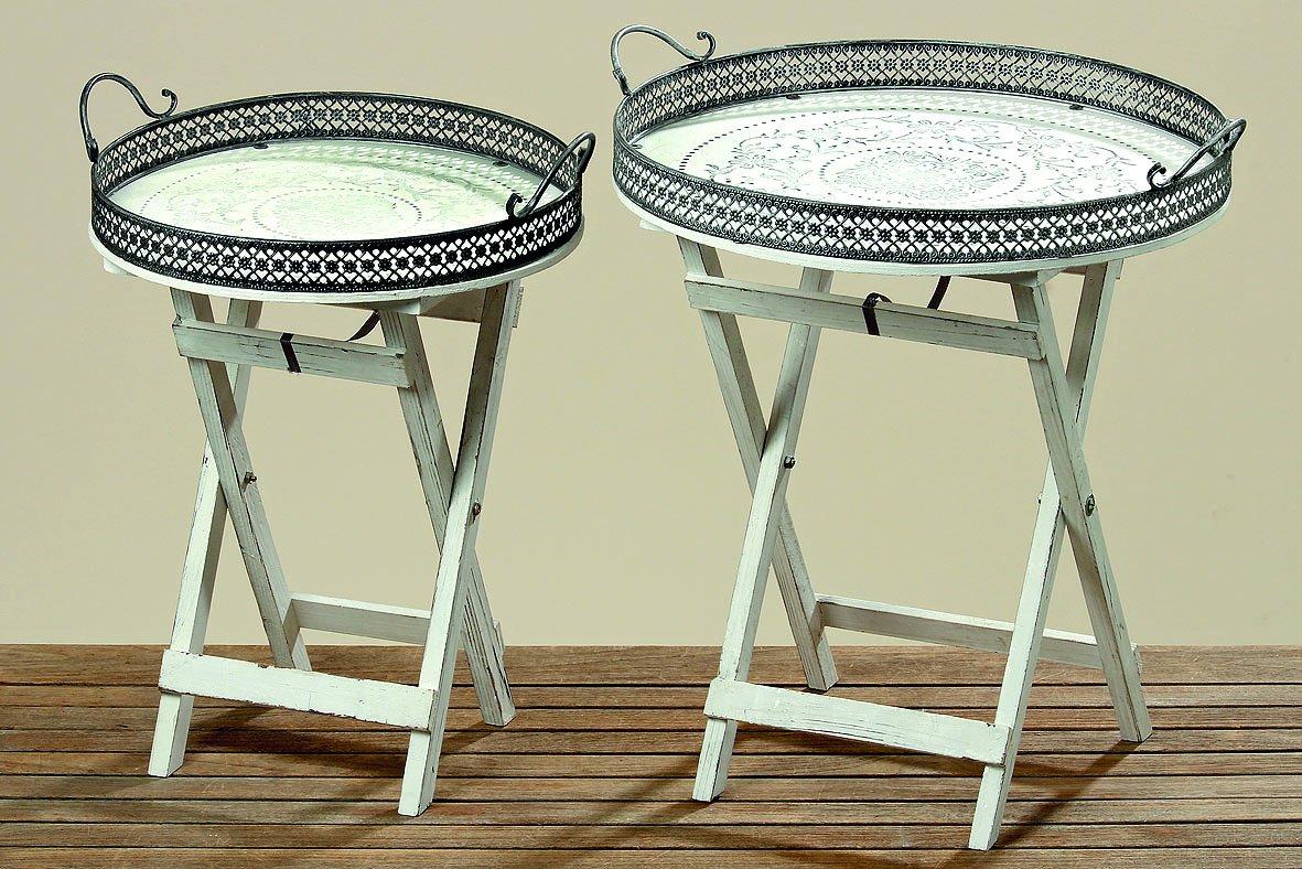 Beistelltisch Felina H60cm Tisch Gartentisch Pflanztisch Ablage Tablett Tabletttisch rund jetzt kaufen