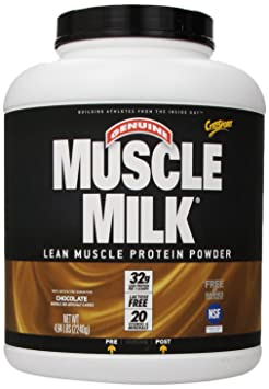 CytoSport Muscle Milk Lean Muscle Protein Powder, Chocolate, 4.94 Pound