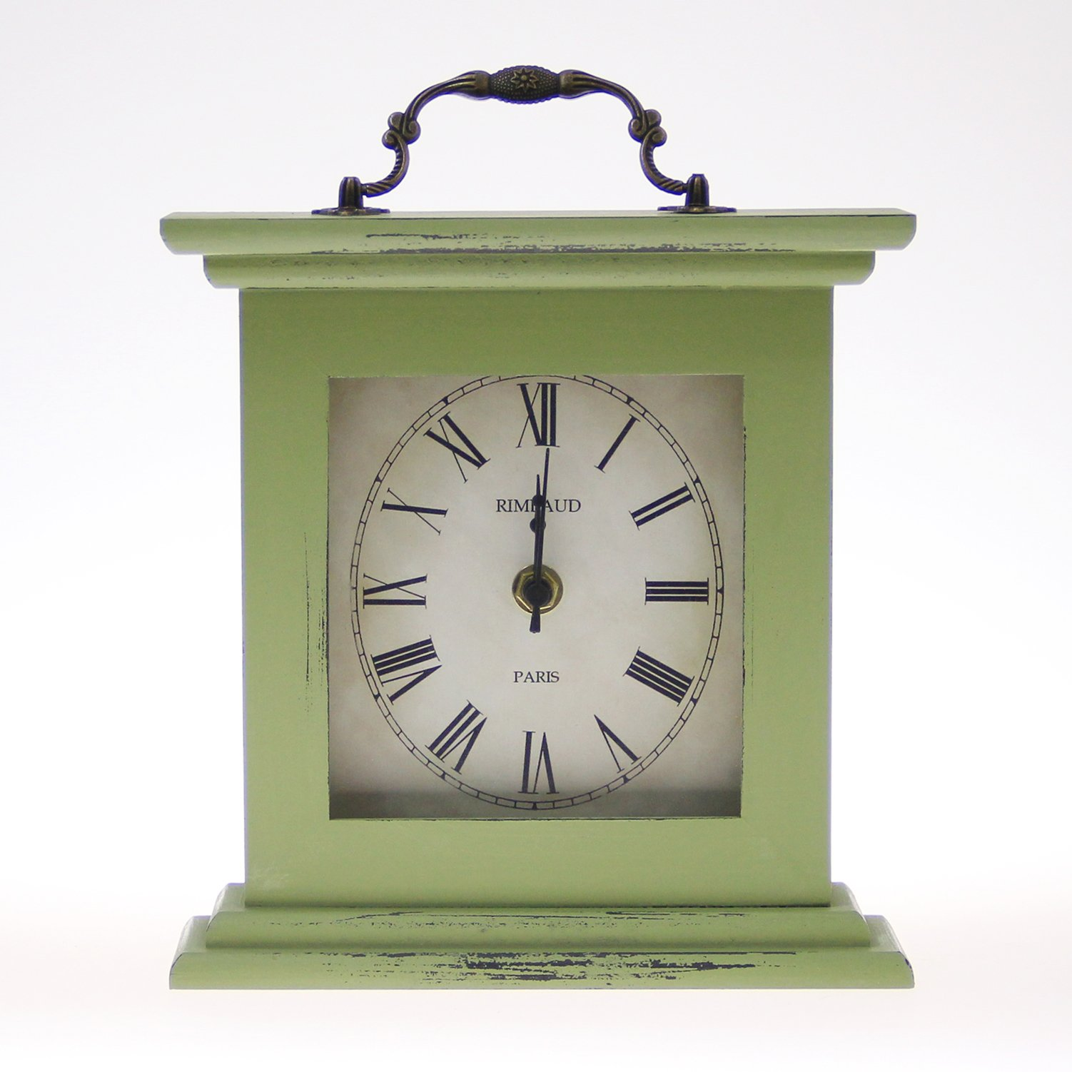 Rustic Table Clock: JustNile Rustic Table/Desk Clock With Handle
