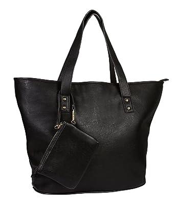 dcf8042633faa SIX klassische Shopper Tasche mit kleinem Etui als Anhänger (355-531 ...