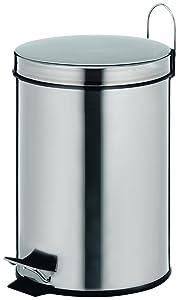 Kela 18194 Knut - Papelera con tapa oscilante para baño (acero inoxidable, 5 L)   Comentarios de clientes y más información