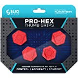 Sliq Gaming PS4 Pro-Hex Thumb Stick Grips - PlayStation 4 - Red (Color: Red)