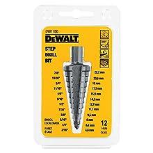 DEWALT DW1786 3/16-Inch to 7/8-Inch 3/8-Inch Shank Step Drill Bit