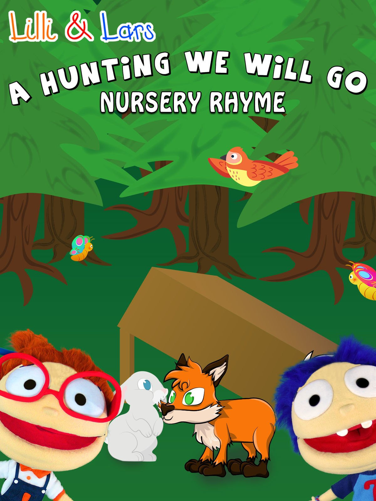 Clip: A Hunting We Will Go nursery rhyme