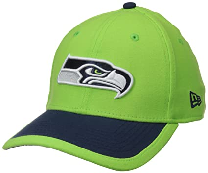 NFL Seattle Seahawks 2015 Reverse 39Thirty Stretch Fit Cap, Small/Medium, Green