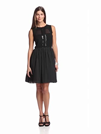 Jessica Simpson Women's Fit And Flare Dress, Black, 8
