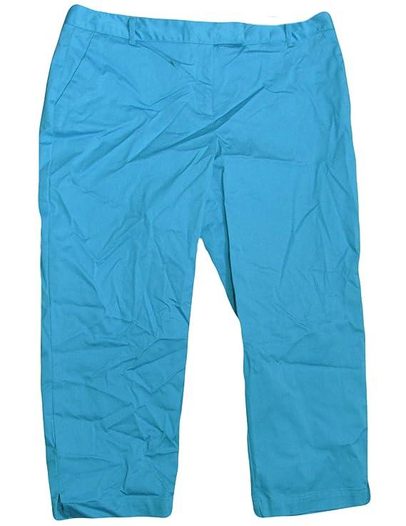 Charter Club Women's Nova Blue Straight Leg Cropped Pant