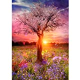 Adarl 5D DIY Diamond Painting Rhinestone Pictures of Crystals Embroidery Kits Arts, Crafts & Sewing Cross Stitch New Womenlike Tree (Color: Womenlike Tree, Tamaño: 30*40CM/11.81