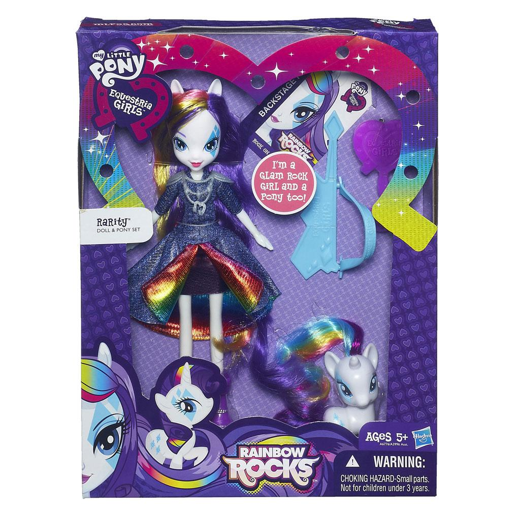 My Little Pony Equestria Girls Rarity Doll and Pony Set: Toys & Games