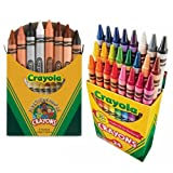 Crayola Multicultural Crayons Assorted, Non-Toxic Box of 8, Bundled With a Box of 24 Crayola Crayons (Tamaño: Multicultural + Standard Crayons)