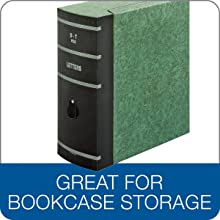 Globe-Weis Double-Thick Box File, Letter Size, A-Z Indexes Inside, Green (22SL GRE)