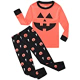 Boys Pajamas Pumpkin Toddler Halloween Pjs Costumes Kids Sleepwear Clothes Set Size 11T (Color: Pumpkin-1, Tamaño: 11 Years)