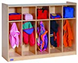 Steffy Wood Products 36-Inch by 48-Inch Toddler 5-Section Locker