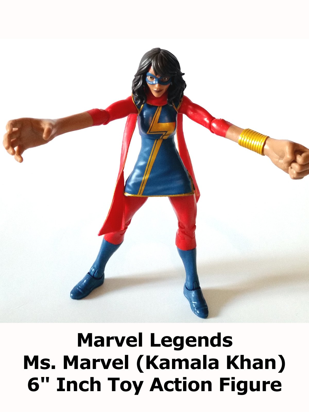 "Review: Marvel Legends Ms. Marvel (Kamala Khan) 6"" Inch Toy Action Figure"