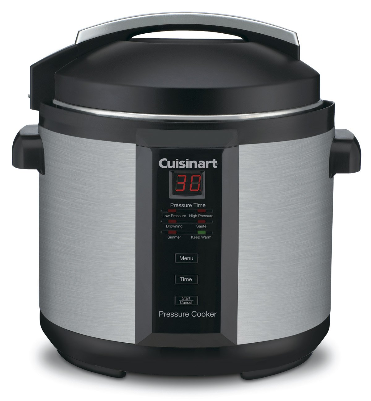 Cuisinart 1000-Watt 6-Quart Electric Pressure Cooker, Brushed Stainless and Matte Blac