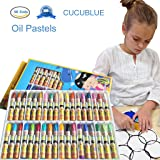 CUCUBLUE Oil Pastels, 36 Cols Washable Drawing Crayons, Water Pastels, Children Drawing Set, Smooth Blending Texture Drawing Supplies, School Art Supplies, Great Gifts for Kids on Christmas, Birthday (Color: 36 Colors)