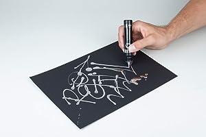 Molotow ONE4ALL Acrylic Paint Refill, Liquid Chrome, 30ml Bottle, 1 Each (699.080) (Color: Silver, Tamaño: 30ml)