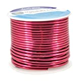 Mandala Crafts Anodized Aluminum Wire for Sculpting, Armature, Jewelry Making, Gem Metal Wrap, Garden, Colored and Soft, 1 Roll(12 Gauge, Raspberry) (Color: Raspberry, Tamaño: 12 Gauge)