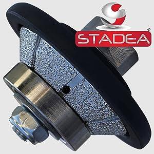 STADEA Vacuum Brazed Diamond Profile Wheel 3/8 inch Bevel E10 Granite Marble Stone With M14 Arbor (Color: Arbor M14, Tamaño: 10MM - 3/8)