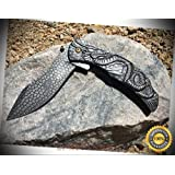 Spring Assisted Open STOASH Folding Pocket Sharp Knife - Premium Quality Hunting Very Sharp EMT EDC