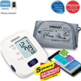 Omron HEM 7120 Upper Arm Automatic Blood Pressure Home B P Monitor Bp Machine Hem 7120 (Color: White, Tamaño: Mediam)