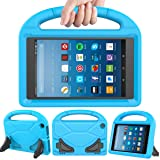 LEDNICEKER Kids Case for Fire HD 8 2017 - Light Weight Shock Proof Handle Friendly Convertible Stand Kids Case for Fire HD 8 inch Display Tablet (7th Generation, 2017 Release) - Blue